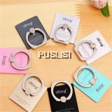 (Free hook) Reusable Universal 360° Finger Ring Metal Grip Stand Holder for Cell Mobile Phone