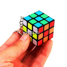 Mini Keychain 3*3*3 Rubik's Cube Puzzle Game Toy Great Fun Play Fast