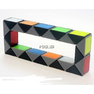 72 Sections Puzzle Snake Magic Ruler Cube 3D Jigsaw Twist Puzzle Fancy Toys Gift