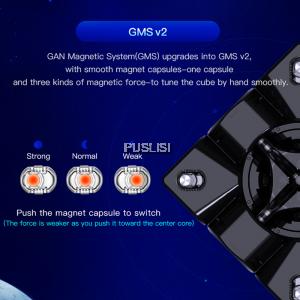 GANCube Original GAN 356 XS GAN356XS Magnetic 3x3 Magic Rubik's Cube (Free 10ml Gan Magic Oil)