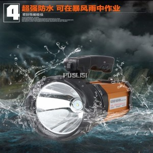 Authentic 60W outdoor rechargeable hunting LED searchlight