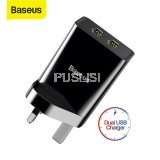 Baseus Original 10.5W Dual USB Travel Charger UK Plug Fast Charge Adapter