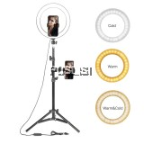 26cm LED Ring Light Photographic Selfie Ring Lighting with Stand for Smartphone Youtube Makeup Video Studio Tripod Ring Light