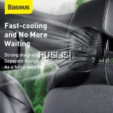 Baseus Original Car Fan Cooler Foldable Silent Fan For Car Backseat Air Condition 3 Speed Adjustable Mini USB Fan Desk Fan Auto Cooling