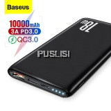 Baseus Original Quick Charge 3.0 10000mAh Power Bank USB Type C PD 10000 Powerbank Portable External Battery Charger For Xiaomi Mi iPhone