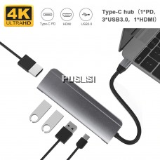 5 in 1 Type C to Multi USB 3.0 HUB HDMI Adapter Dock for MacBook Pro Huawei Mate 30 USB-C 3.1 Splitter Port Type C HUB