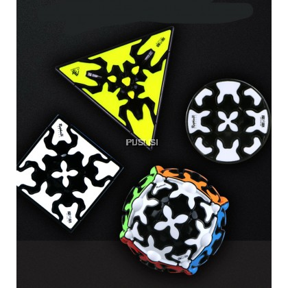 New Qiyi Gear Cube 3x3x3 Gear Cube 3x3 Pyramid Cylinder Sphere Speed Cubes Educational Toy for Children