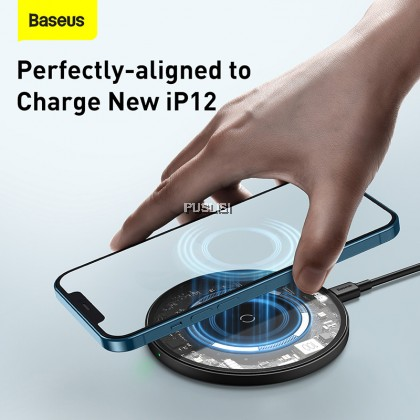 Baseus Original Magnetic Wireless Charger For iPhone 12 Series 15W PD Fast Charger For Airpods Huawei Samsung