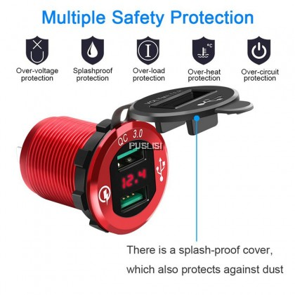 USB Motorcycle Bike Mobile Phone Power Supply Charger Waterproof Port Socket Universal Mobile Phone Accessories