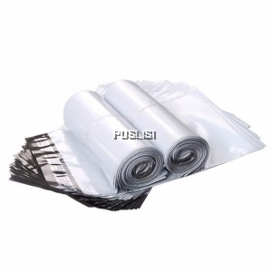 White Courier Plastic Bag High Quality 100pcs Packing Box Flyer