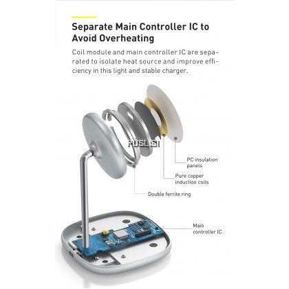Basues Original 15W Magnetic Wireless Charger Stand Holder Pad For iPhone 12 Pro Max iphone 12 mini