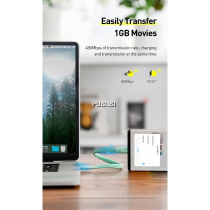 Baseus Original Type C Short 22cm 5A Fast Charging USB Type-C UsbC Cable For Android Powerbank Samsung Huawei Xiaomi Oppo