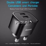 BASEUS Samsung XIAOMI ASUS Dual USB 2.4A HOME Travel Adapter Charger