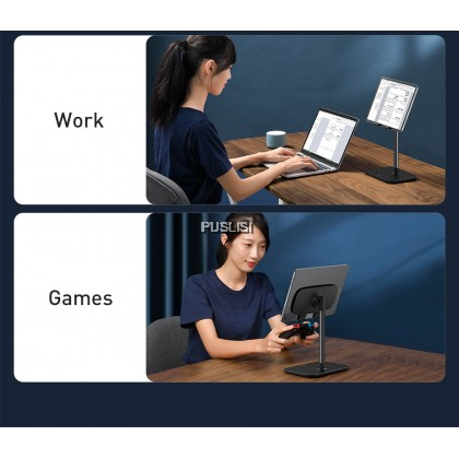 Baseus Original Tablet Desk Stand Indoorsy Youth Extendable Multi-Adjust Angle Anti-Tip and Stable (Telescopic Version)