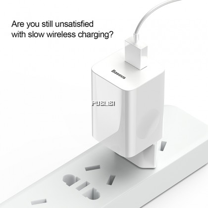 Baseus Original 24W Quick Charge 3.0 USB Charger AC Adapter For Wireless Charger Travel Mobile Phone Charger
