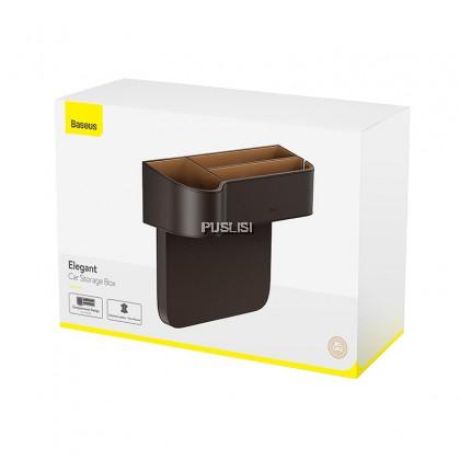 Baseus Original Universal Leather Car Organizer Auto Seat Gap Storage Box For Wallet Cigarette Keys Phone Holders Large Capacity