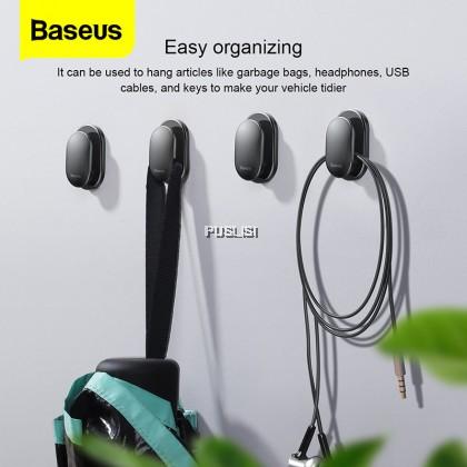 Baseus Original 4PCS Cable Organizer USB Cable Clip Management Protector Cable Winder Suction Sup Wall Hooks Hanger Car Sticker Holder