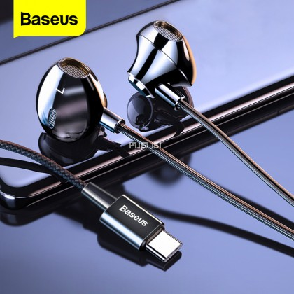 Beaseus Original C06 Wired Earphone Type C Bass Stereo Earbuds with Mic Sport Headset 3.5mm Jack for Samsung Huawei Xiaomi