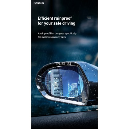 Baseus Original Car Rearview Mirror Rainproof Film 2pcs Prevent Rearview Mirror