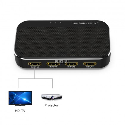HDMI Switcher 3in1 5in1 port 4Kx2K 1080P AUTO Switch Splitter cable adapter converter