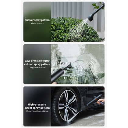 Baseus Original Electric Car Washer Gun High Pressure Cleaner Foam Nozzle For Auto Cleaning Care Cordless Protable Car Wash Spray