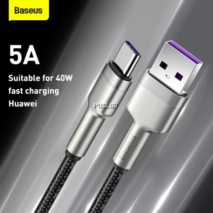 Baseus Original 5A USB Type C Cable QC3.0 Fast Charging Phone Cable USB C Charger for Huawei Xiaomi