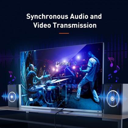 Baseus Original 4K HDMI to HDMI Cable Nylon HDMI-Cable Splitter Video Cable For PC Monitor Digital Splitter PS4 Switch TV Box Projector