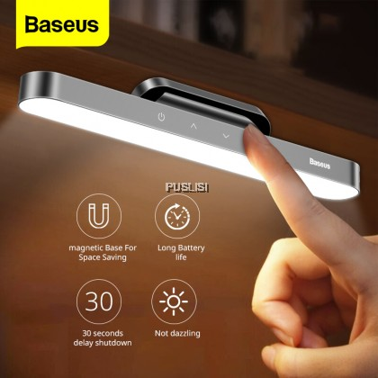 Baseus Original Magnetic Hanging LED Table Lamp Desk Lamp Hanging Wireless Touch Night Light for Study Reading Bedroom Kitchen