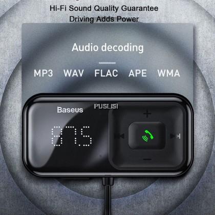 Baseus Original Car Fm Transmitter Bluetooth 5.0 Mp3 Player Radio modulator Adapter 3.1A USB Car Charger Handsfree Car Kit Wireless Aux