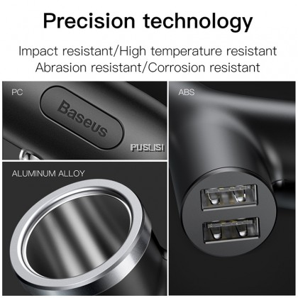 Baseus Original Car Charger 40W  Double USB Shunt For iPhone Samsung Xiaomi mi 3.4A Fast Car Charger Power Adapter