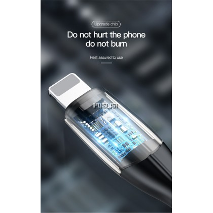 Baseus Original 2.4A Horizontal Data Cable (With An Indicator Lamp) USB Charging Cable For iPhone