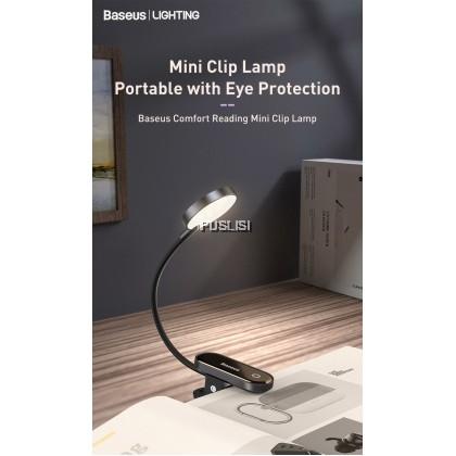 Baseus Original Comfort Reading Mini Clip Lamp USB LED Light Touch Dimmable Desk Lamp Laptop Natural Light Foldable Rechargeable