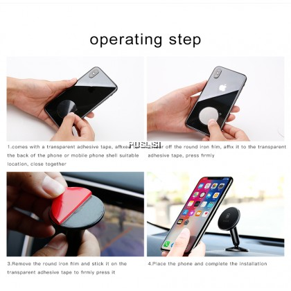 Baseus Original Magnetic Car Phone Holder Stand Mount 360 Degree Rotate GPS Car Holder Universal for iPhone For Xiaomi Magnetic Stand