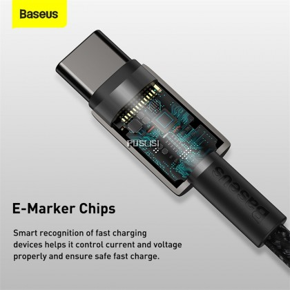 Baseus Original Tungsten Gold PD Fast Charging Data Cable Type-C to Type-C 100W USB C to USB Type C