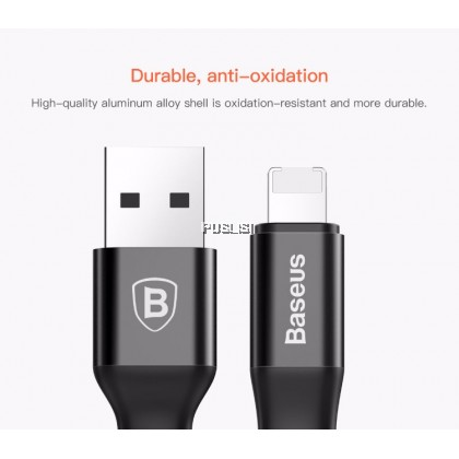Baseus  2in1 23cm Data Fast Charging USB Cable Lightning Micro Apple Android Iphone Samsung
