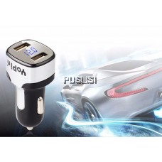 Apple iPhone Micro Yopin Mini Dual USB Car Charger 5V 2.1A LED Quick Charging