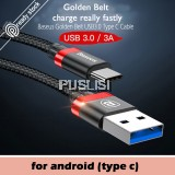 BASEUS Original Nylon Braid TYPE C 3A USB Fast Charge Cable for Samsung Huawei
