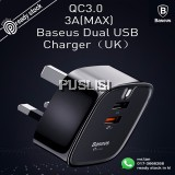 BASEUS TURBO QC3.0 3A MAX Dual USB Intelligent Quick Travel Wall Adapter Charger