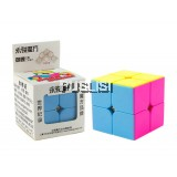 YJ Rubik's Cube Stickerless Magic Cube Twist Puzzle  2X2X2 Flexible Smooth Puzzle Toy