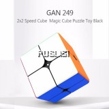 GAN 249 2x2 Rubik Cube Stickerless Speed Cube Twist Puzzle Toy
