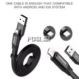 Baseus  2in1 120cm Data Fast Charging USB Cable Lightning Micro Apple Android Iphone Samsung