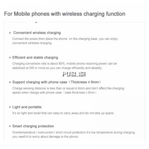 Baseus QI Wireless Charging Charger For iPhone X/iphone8 note8 S6 S7