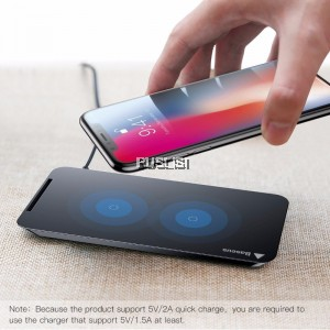 Baseus Fast Qi Wireless Charger Pad Stand for iPhone X iPhone 8 iPhone 8 Plus Samsung Galaxy Note 8 S8 S8 Plus S7 Edge S7 S6 Edge Plus Note 5