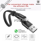 Baseus 23CM iPhone 5 5S 6 6S 7 7s 8 8s PLUS X  Lightning Data Sync Fast Charge USB Cable