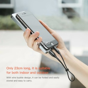 Baseus 2in1 portable cable 23cm/120cm micro lightning apple android