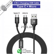 Baseus 2 in 1 fast charging cable Micro USB Type C Android HUAWEI Samsung