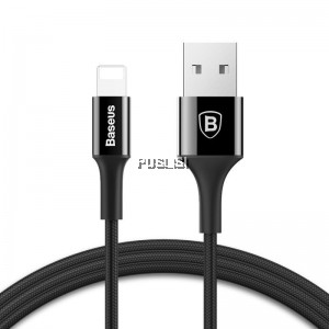 Baseus LED USB Cable 2A Fast Sync Charging For Apple iPhone Metal