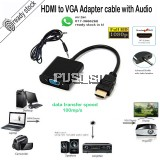 HDMI to VGA Converter Adapter Cable come with Audio Port and cable