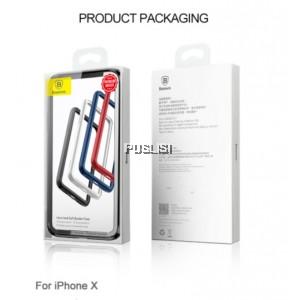 Baseus iPhone X Border Frame Cover Bumper Case Luxury Coque Ultra Thin PC+Soft