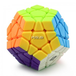 YongJun 3x3 Megaminx Rubiks Cube Speed Cube Magic Cube Black